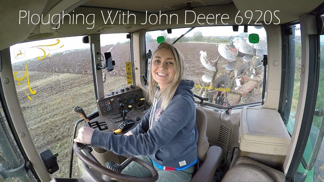 Leanne Ploughing With John Deere 6920S - 4K