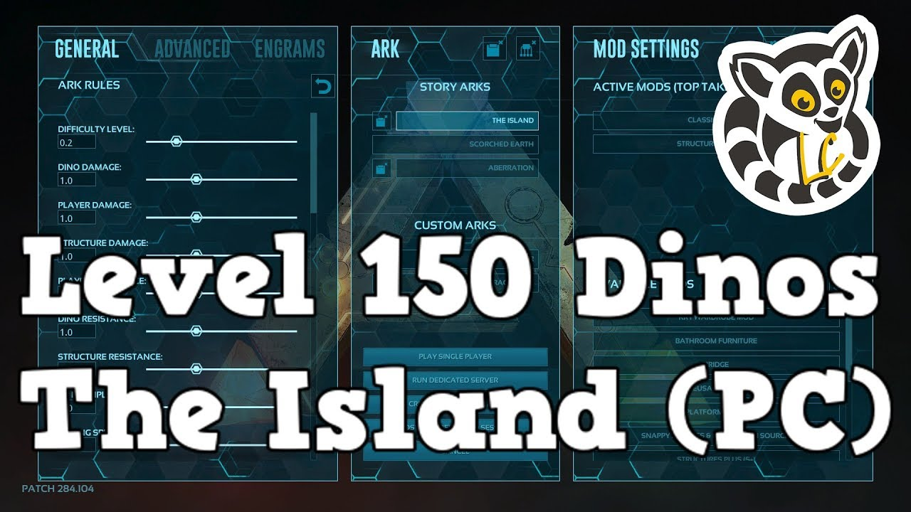 Ark: Survival Evolved - 150 Dinos on The Island (PC)