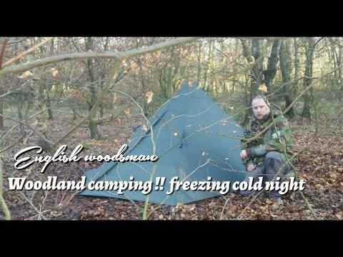 Wild woodland camping. no fun waking up to a frozen tent.