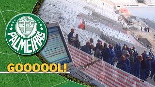 O primeiro grito de gol no Allianz Parque, novo estádio do Palmeiras