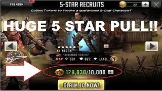 Walking Dead : Road to Survival - HUGE FIVE PACK OPENING - 12 FIVE STARS!!!
