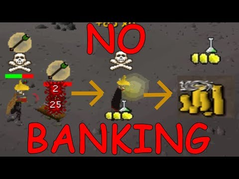 How much Money can I make through Alching the drops I PK without Banking? Pt 1