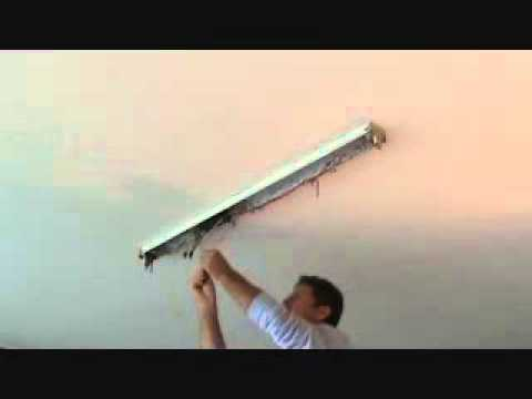 How To Install A Surface Mounted Fluorescent Light Fixture Part 2
