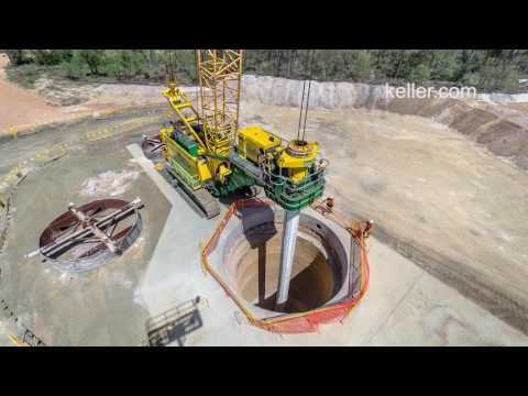 Large Diameter Shaft Drilling Timelapse