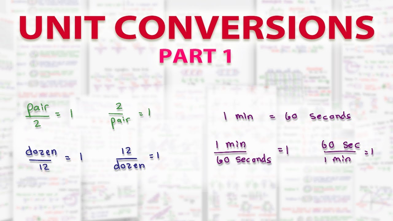 Dimensional Analysis Unit Conversions on the MCAT - YouTube
