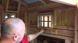 Window Covers Inside Custom Chicken Coop