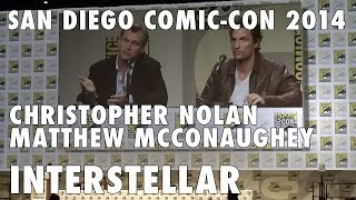 Comic-Con 2014 - Christopher Nolan, Matthew McConaughey introduce Interstellar