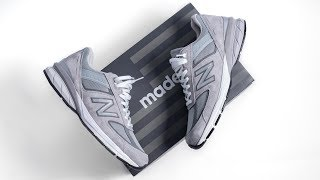 How New Balance Perfected the SNEAKER | New Balance 990V5 ON FEET REVIEW
