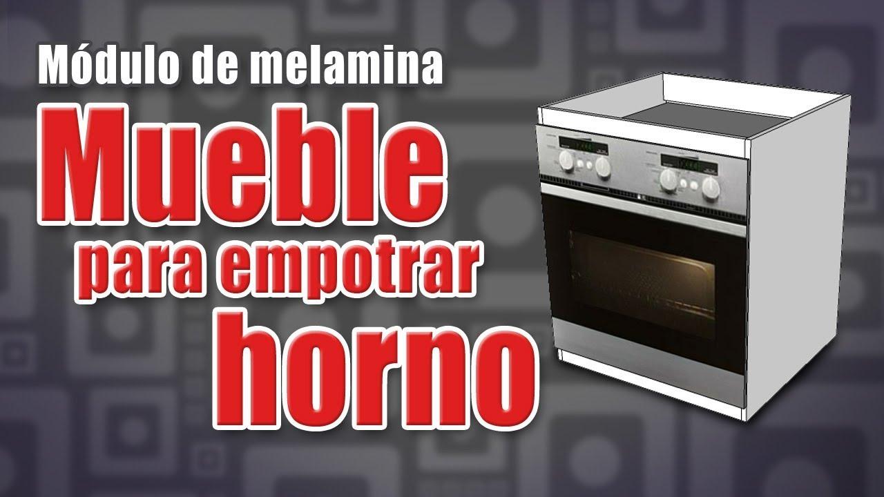 Mueble para el horno empotrado - COCINA MODULAR de Melamina - Muebles de  melamina - DIY