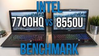 8550U vs 7700HQ - Laptop CPU Comparison and Benchmarks