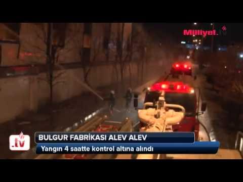 Bulgur Fabrikası Alev Alev