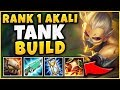 #1 AKALI WORLD UNKILLABLE TANK BUILD (INSANELY TANKY + HUGE DMG) - League of Legends