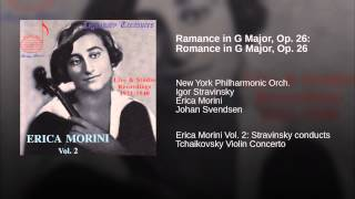Ramance in G Major, Op. 26: Romance in G Major, Op. 26