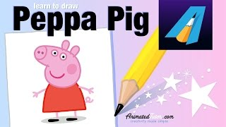 Peppa Pig - How to draw Peppa Pig - How to color Peppa Pig - Cute and Easy -  AnimatedTutor