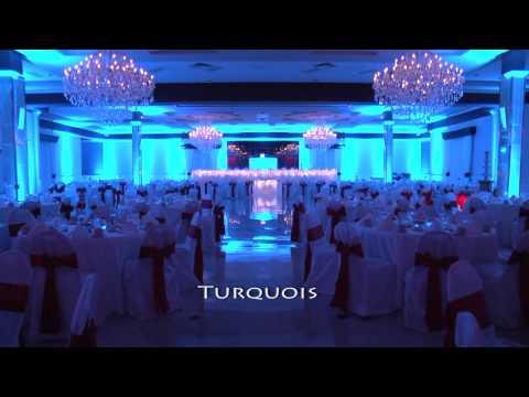 Popular Wedding Reception Uplighting Colors - Pittsburgh DJ Pifemaster