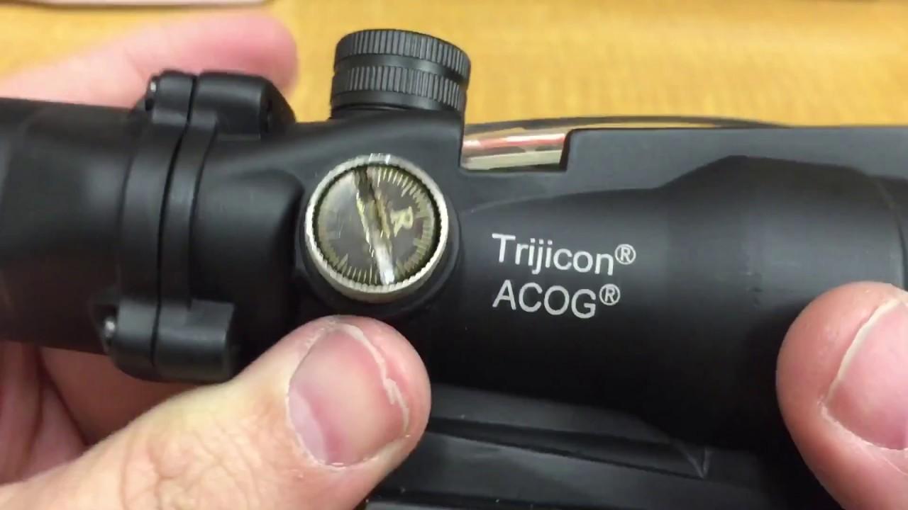Trijicon Acog Real Vs Fake Youtube