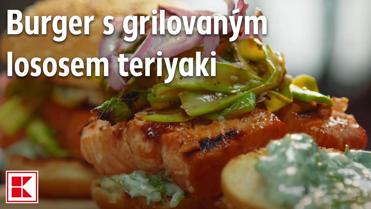 Burger S Grilovaným Lososem Teriyaki
