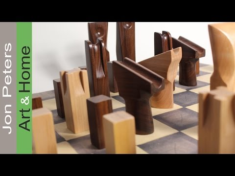 Handmade Wooden Chess Set, Made with Rosewood & Maple