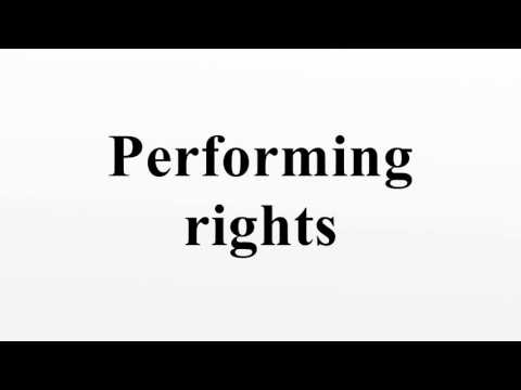 Performing rights