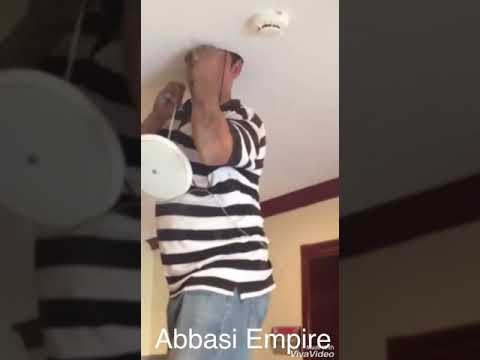 Electrician gets his head stuck in ceiling