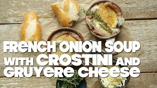 Homemade French Onion Soup Recipe With Gruyere Cheese