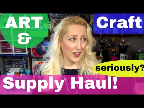 Year End Art/Craft Supply Haul {Lindsay Fell off the Konmari Wagon!}