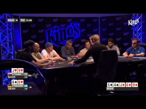 CASH KINGS E48 1/2 - DE - NLH 5/10 ante 5 - Live cash game poker show