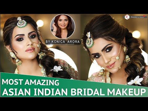Asian Indian Bridal Makeup | Step By Step Makeup Tutorial | Asian Bridal Makeup | Krushh By Konica