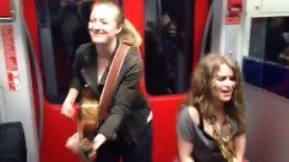 Girls train jam with Heidi Joubert & Anna Guder - Prince cover Kiss