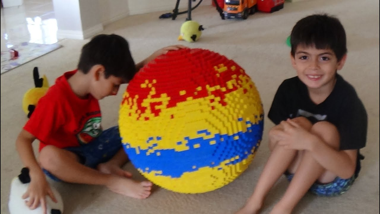 giant lego ball (stop motion assembly) - YouTube