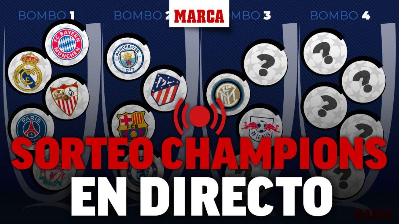 Sorteo Champions League 2020 - 2021 EN DIRECTO  Grupos de Real Madrid, Barça, Atlético y Sevilla