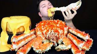 Cheesy Sauce Whole King Crab • MUKBANG