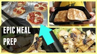Easy Mini Meal Prep + French Toast & Pizza Bagel Recipe