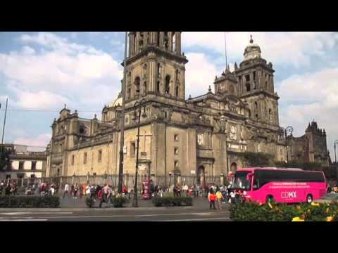 Travel in Mexico City: The Zocalo and Cathedral