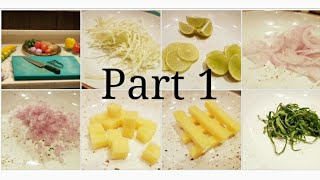 Basics : Different types of Vegetables cuts |  Part 1| BY Monika Talwar