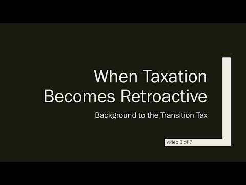 US Tax Reform and the Non-resident Business Owner - Video 3 of 7