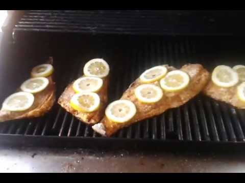 Cooking Our Catch Redfish On The Half Shell Youtube