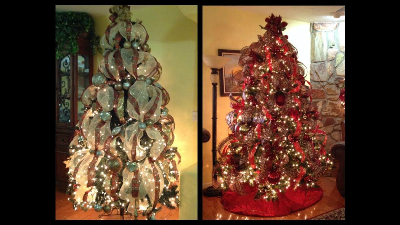 Como decoro mi arbol de navidad con cintas youtube - Arbol de navidad adornos ...