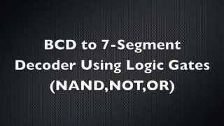 bcd to 7 segment decoder using logic gates