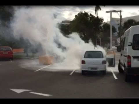 Car Fire In Parking Lot, November 17 2015