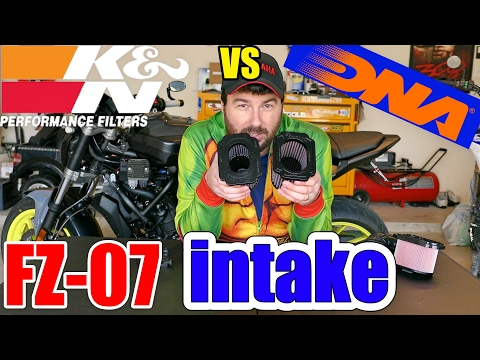 FZ-07 Intake & Air Filter, K&N vs DNA