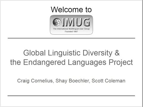 Global Linguistic Diversity and the Endangered Languages Project :: IMUG 2015.02.19
