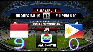 Hasil Piala AFF U-18, Indonesia Pesta 9 Gol ke Gawang Filipina