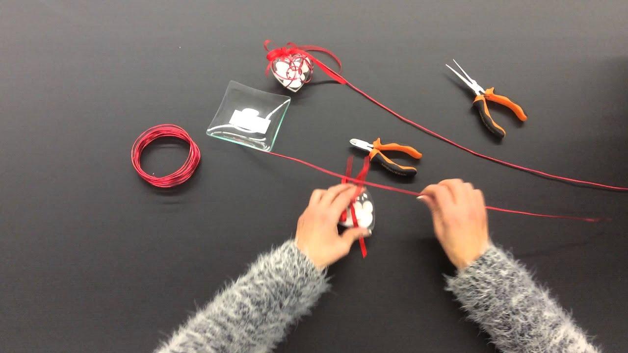 Préférence Décoration fil alu sur boîte plexi coeur. - YouTube GT71