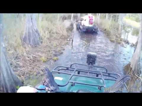 Trail Riding in Grant FL on a 350 Honda Rancher