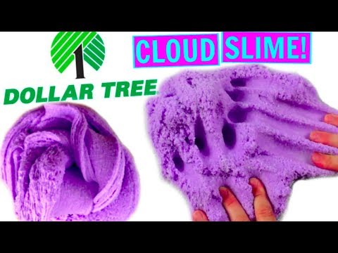 DOLLAR TREE CLOUD SLIME CHALLENGE! How to make cloud fluff slime from the dollar store!