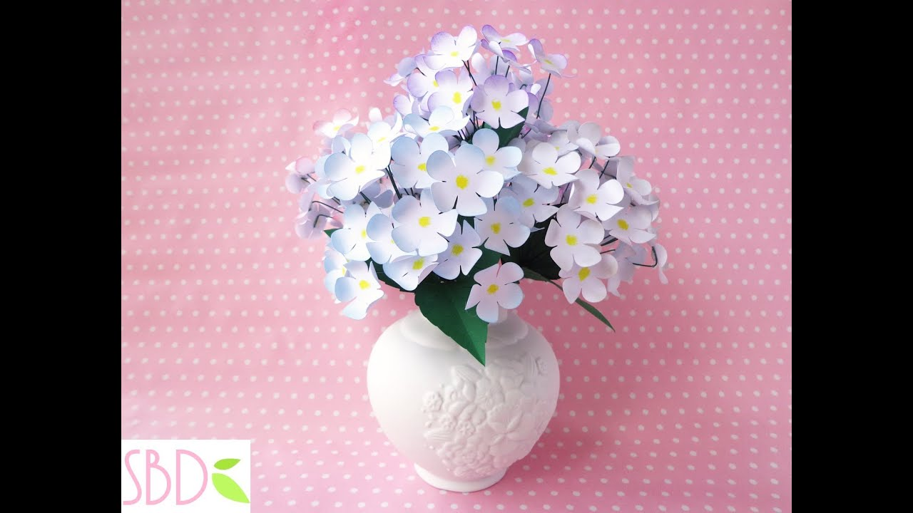 Flowers in a vase cheap diy decorations vaso di fiori di carta home decor diy paper flowers vase youtube mightylinksfo