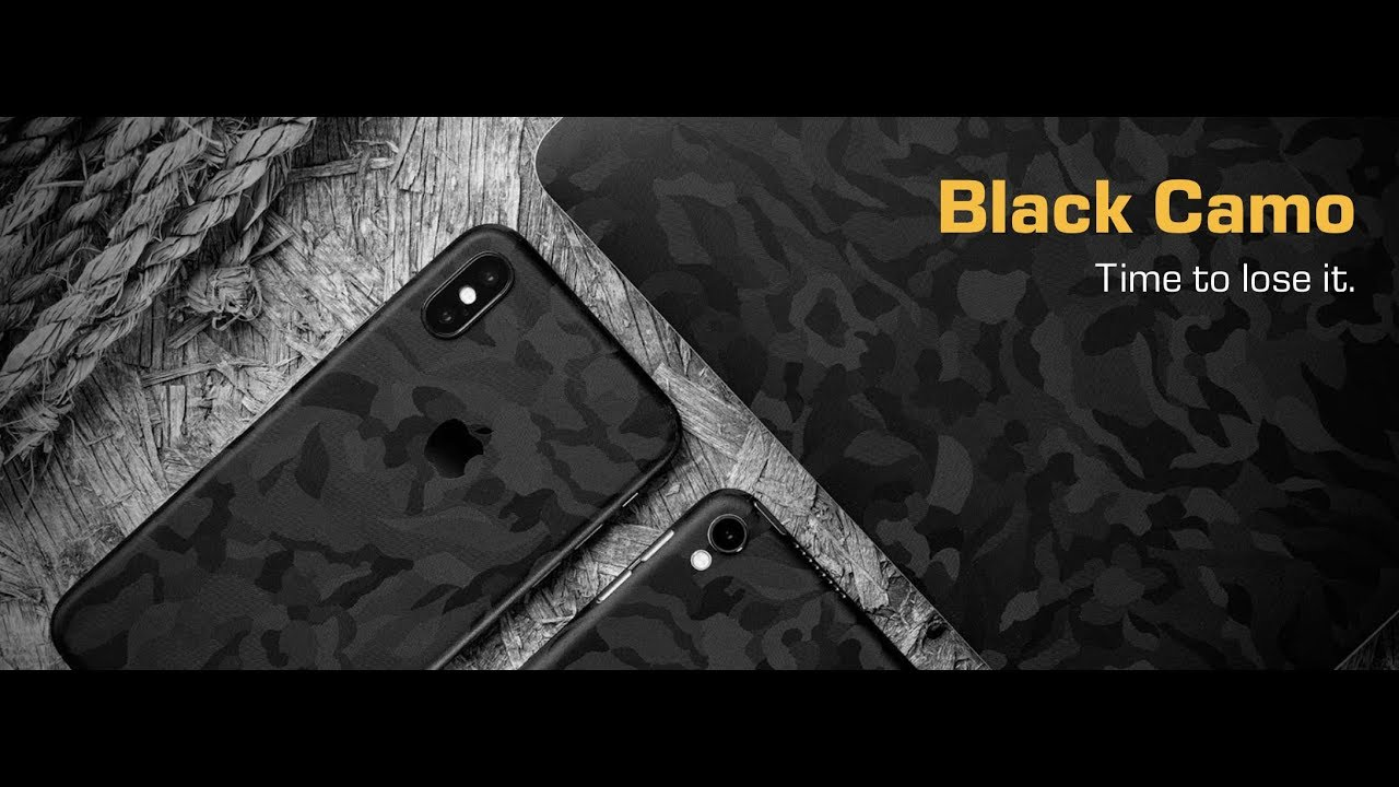 dbrand Black Camo Skin - iPhone 8 Plus - YouTube b98574c13ecf