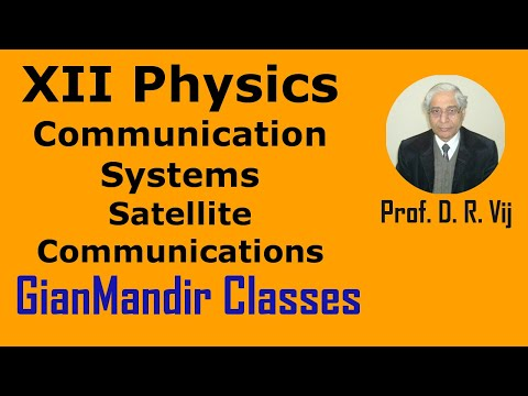 XII Physics - Communication Systems - Satellite Communications By Amrinder Sir