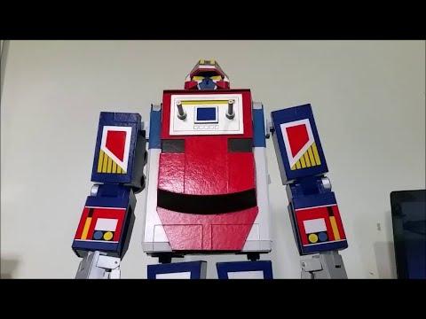 """Maskman Galaxy Robot and Land Galaxy 24"""" Scratch built made of cardboard (Final)"""